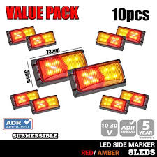 led side marker lights clearance pack 10x led side marker amber red indicator trailer