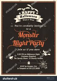 halloween party invitation template cardposterflyer stock vector