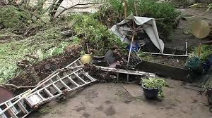 rain swollen creeks cause roads vineyards to flood in north bay