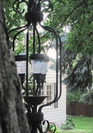 Homemade Outdoor Chandelier by Simple Details Diy Outdoor Solar Chandelier