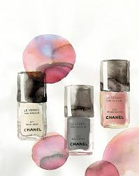 chanel spring nail polish print on maquette art u0026 illustration