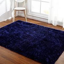 3x6 Rugs Amazon Com Hoomy Modern Deep Blue Floor Rugs For Living Room