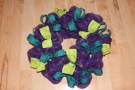 diy purple ribbon wreath