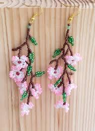 Handmade Seed Beaded Gold Plated 1227 Best Beading Earrings Images On Pinterest Earrings