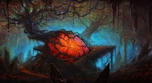 halloween scary background green creepy forest backgrounds group 59