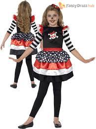 halloween costume kids girls skeleton sugar skull halloween fancy dress day of the dead