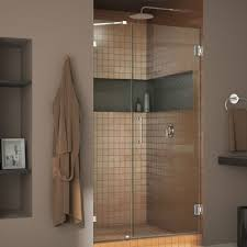 hinged glass shower door dreamline unidoor lux 47