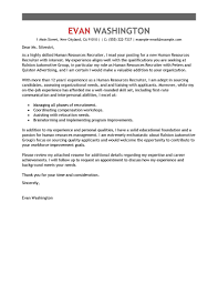 Human Resource Recruiters Resume Human Resource Cover Letter Examples Choice Image Cover Letter Ideas