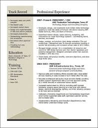 Cfo Resume Template Sample Winning Resumes Resume Samples For All Professions And
