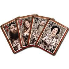 duck dynasty camo redneck family portrait standard poker playing