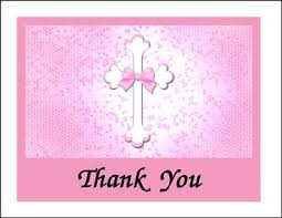 religious thank you cards religious thank you pink cross cards 7360cs ty cc