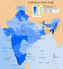 Map Of India States by Indian States Ranking By Literacy Rate Wikipedia