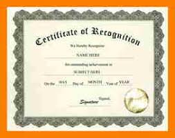 6 certificate of recognition template weekly template