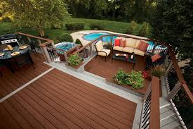 Wire Patio Chairs by Exterior Design Exciting Outdoor Design With Cozy Trex Decking