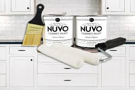how to paint kitchen cabinets nuvo nuvo cabinet paint vs rustoleum transformations kit reviews