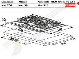 dimensioni piano cottura 5 fuochi 6800076 piano cottura 70 incasso cucina franke fhmr7054gtcoae 5