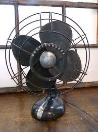 vintage art deco westinghouse ocillating metal table fan 80 00 via