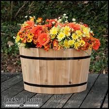 wine barrel planter wine barrel container gardening edible front