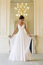 flowing wedding dresses discount grecian backless wedding dresses v neck flowing