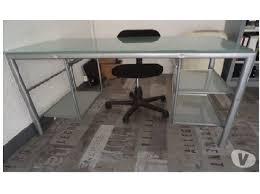 bureau vitre beau bureau ikea verre en 20150531104610 beraue trempe blanc