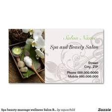 Beauty Spa Business Cards Spa Beauty Massage Wellness Salon Business Card Salon Business