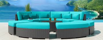 Patio Sectional Sofa 9 Piece Round Outdoor Sectional Sofa Set Modavi By Uduka