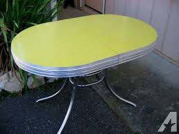 retro yellow kitchen table yellow formica table on vintage design nifty 50 s furnishings