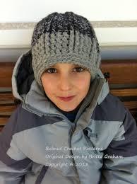 chunky beanie crochet pattern for boys and men in toddler kids