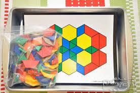 pattern blocks math activities preschool learning activities montessori math and language works
