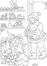 printable coloring pages christmas santa presents christmas