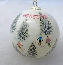 whistler ski ornament