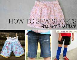 how to sew shorts 40 free shorts patterns allfreesewing