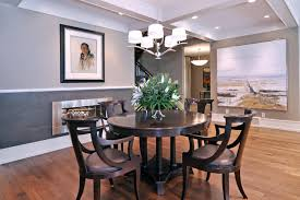 Two Tone Dining Room Paint Dining Room Transitional Dining Room Calgary By Bruce