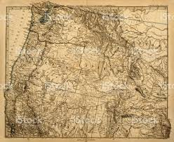 Old Map Old Map Of The Us Pacific Northwest Stock Photo 178959561 Istock