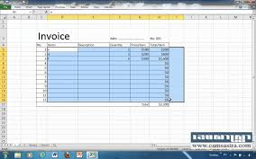 Excel Invoice Template 2010 How To Create Auto Invoices In Excel 2010