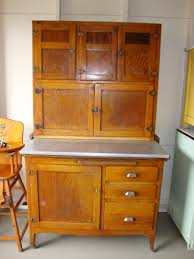 1930 u0027s wooden hoosier type kitchen cabinet zinc top cabinets old