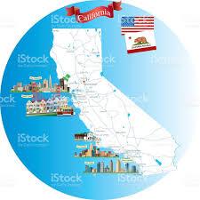 Map Of Los Angeles California by Cartoon Map Of California Stock Vector Art 495628498 Istock