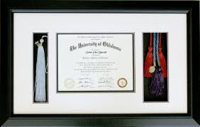 tassel frame ou diploma with cords and tassel masters house and frame