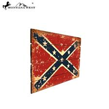 rsm 1815 montana west wood rebel flag wall decor plaque u2013 montana
