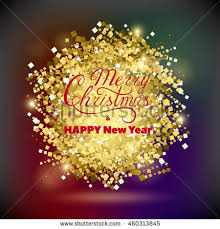 merry christmas happy new year greeting stock vector 460313845