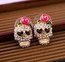 cool ear rings vintage cool skull earrings studs fashion earrings