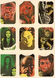 pictures of halloween monsters hallowee stickers halloween countdown vintage monster stickers