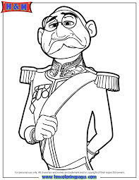 frozen duke weselton coloring pages cartoon pictures