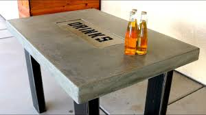 concrete countertop table with drink tray diy youtube