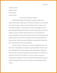 college essay header format format