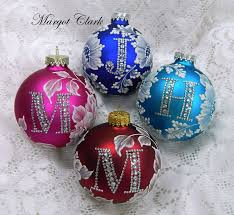 christmas ornaments with initials 204 best mud florals ornaments technique images on