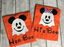 his boo her boo disney couple halloween couple shirts