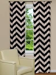 Grommet Chevron Curtains Mesmerizing Black Chevron Curtains 116 Black Chevron Curtains Uk