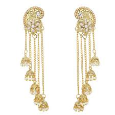 most beautiful earrings most beautiful gold plated party wear designer