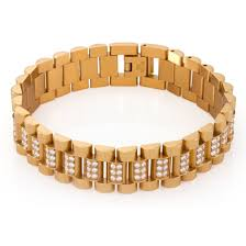 rolex bracelet stainless steel images 15mm stainless steel cz rolex link bracelet hip hop bracelet jpg